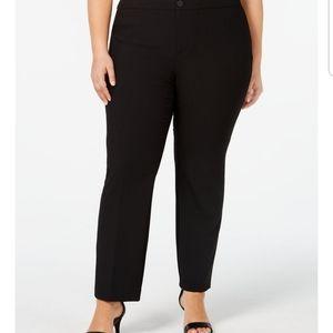 Charter club plus size straight leg black pants